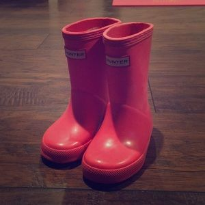 Toddler Girl Pink Hunter Boots